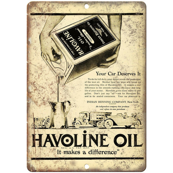 "Havoline Oil Medium Motor Oil Ad 10"" X 7"" Reproduction Metal Sign A768"