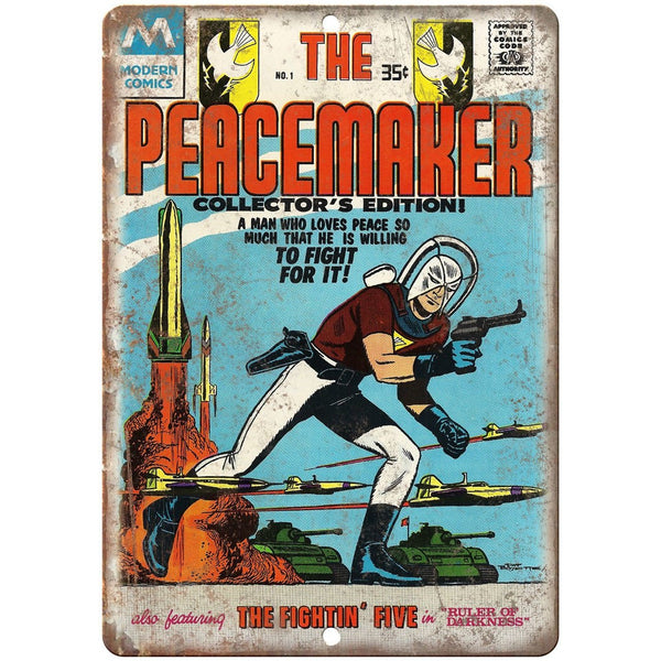 "The Peacemaker Modern Comics Vintage Art 10"" X 7"" Reproduction Metal Sign J296"