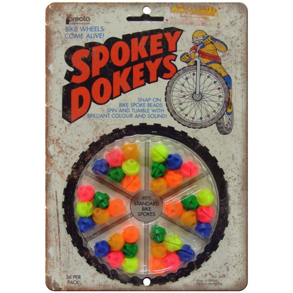 "Spokey Dokeys BMX Spoke Wheels - 10"" x 7"" Metal Sign - Vintage Look Reproduction"