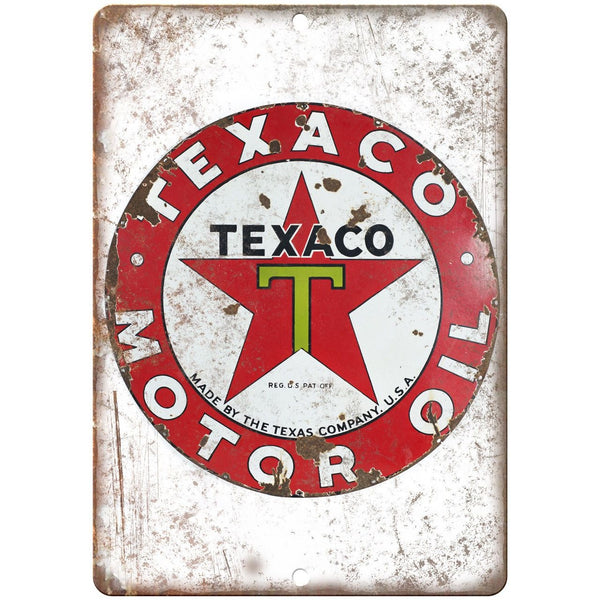 Texaco Motor Oil Porcelain Look Reproduction Metal Sign U145