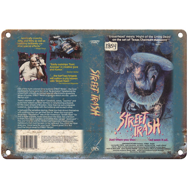 "Lightning Video VHS Street Trash Box Art 10"" X 7"" Reproduction Metal Sign V12"