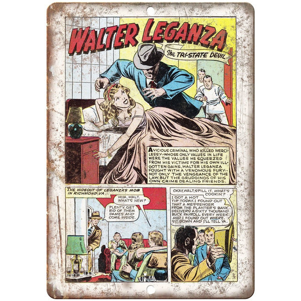 "Penalty! Walter Leganza Vintage Comic Art 10"" X 7"" Reproduction Metal Sign J354"