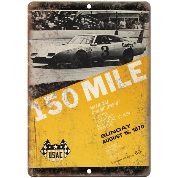 "1970 Late Model Stock Car Race 10"" X 7"" Reproduction Metal Sign A589"