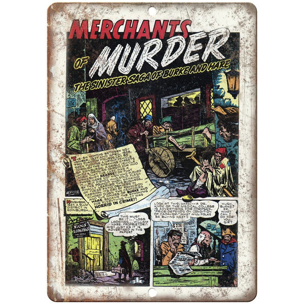 "Penalty! Merchants of Murder Comic Strip 10"" X 7"" Reproduction Metal Sign J350"