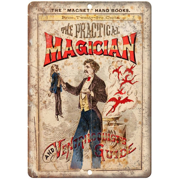 "The Practical Magician Vintage Book Cover 10"" X 7"" Reproduction Metal Sign ZH159"
