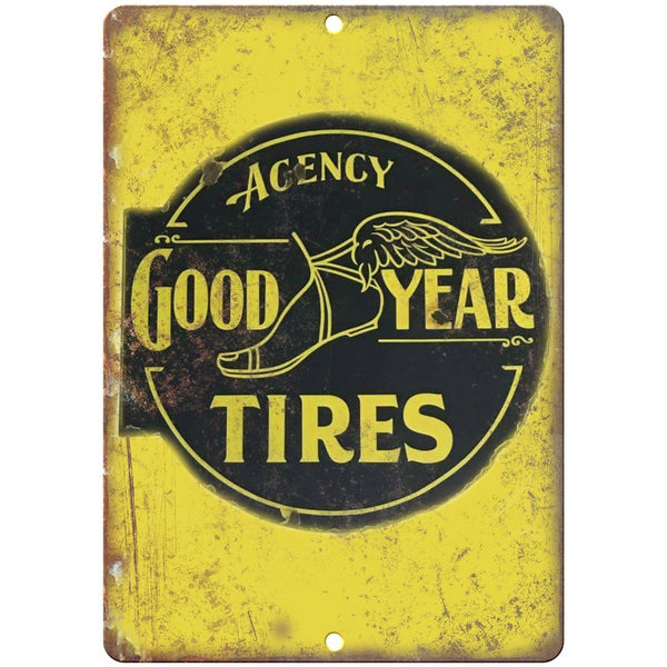 "Good Year Tires Porcelain Look 10"" X 7"" Reproduction Metal Sign U95"