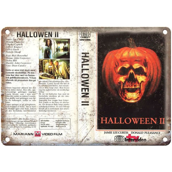 "1981 - Halloween II Movie VHS Cover 10"" x 7"" Vintage Look Reproduction"