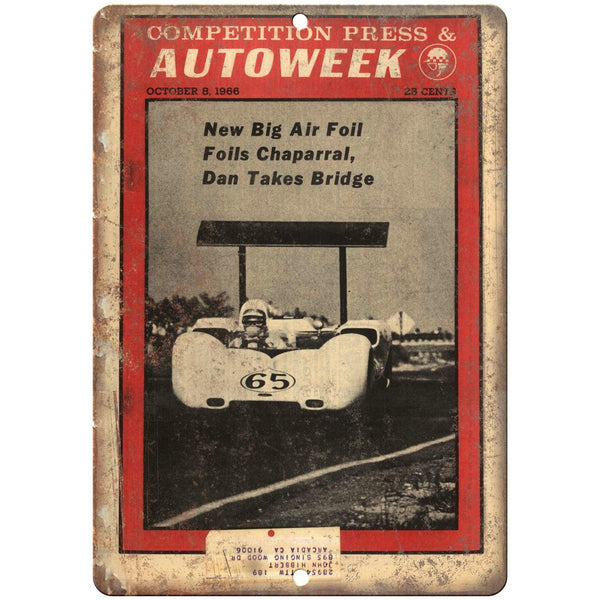 "1966 Autoweek Race Car Ad 10"" X 7"" Reproduction Metal Sign A665"