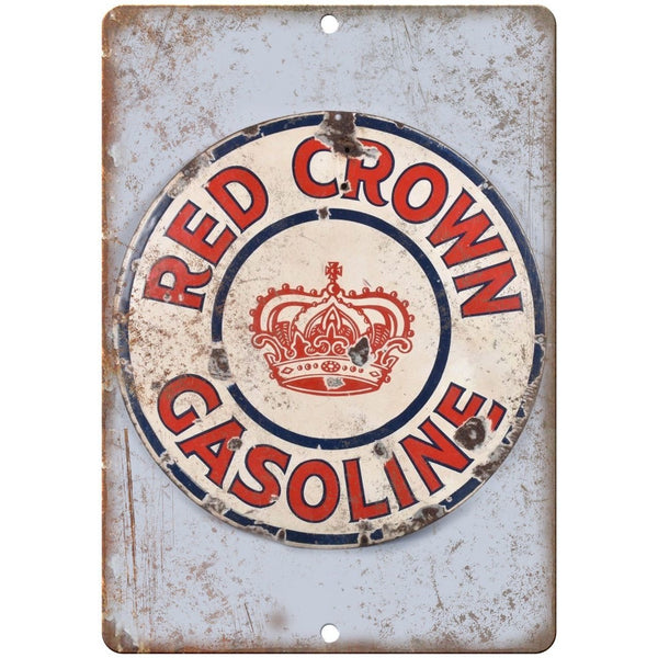 Red Crown Gasoline Porcelain Look Reproduction Metal Sign U139