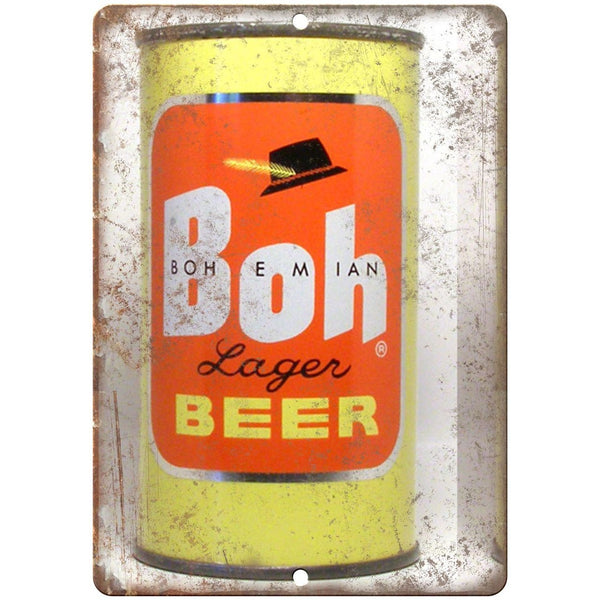 "Vintage Beer Bohemian Lager Beer 10"" x 7"" reproduction metal sign"