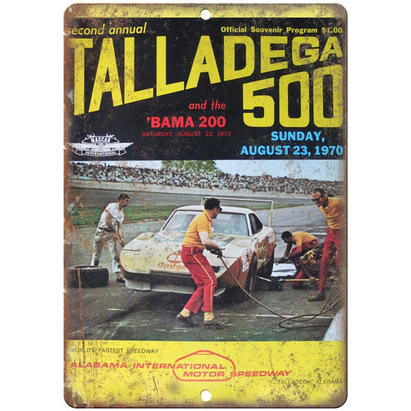"1970 Talladega 500 RARE, speedway, NASCAR 10"" x 7"" Reproduction Metal Sign"