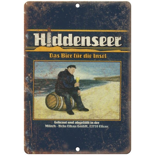 "hiddenseer European Beer Vintage Ad 10"" x 7"" Reproduction Metal Sign E273"