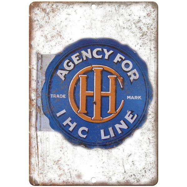 IHC Line Agency Porcelain Look Reproduction Metal Sign U125