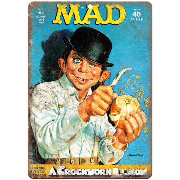 "1973 MAD Magazine A Clockwork Orange Cover 10'"" x 7"" reproduction metal sign"