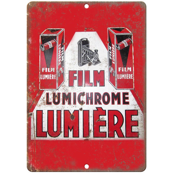 "Lumiere Camera Film Porcelain Look 10"" X 7"" Reproduction Metal Sign U77"