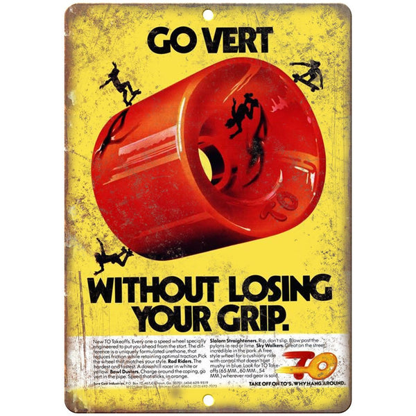 "TO Takeoffs Skateboard Vert Wheels Ad 10"" X 7"" Reproduction Metal Sign S03"