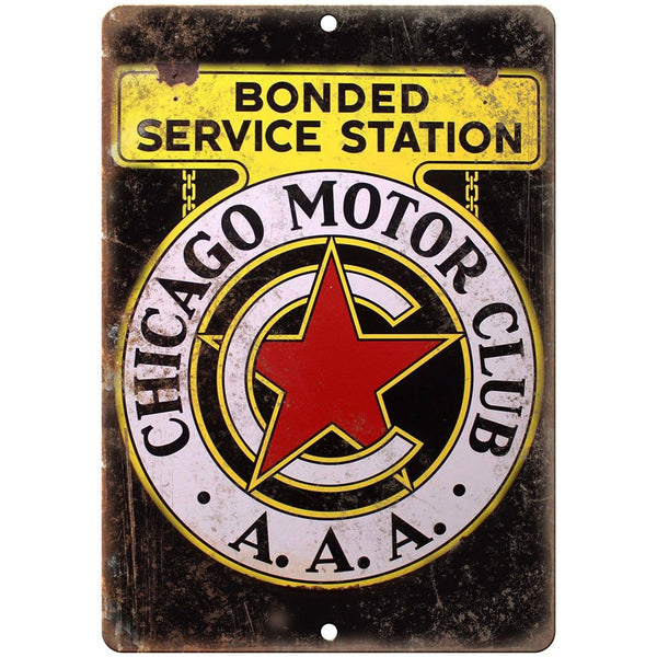 "Chicago Motor Club Porcelain Look 10"" X 7"" Reproduction Metal Sign U107"