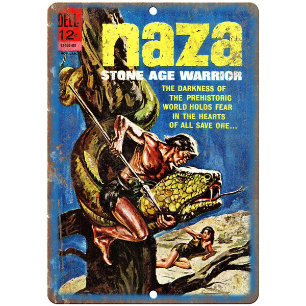 "Dell Comics Naza Sone Age Warrior Comic 10"" X 7"" Reproduction Metal Sign J438"