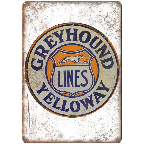 Greyhound Yelloway Lines Porcelain Look Reproduction Metal Sign U149