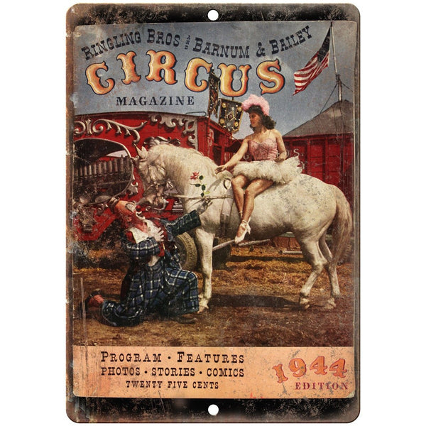 "Ringling BrosBarnum Bailey Circus Magazine 10"" X 7"" Reproduction Metal Sign ZH78"