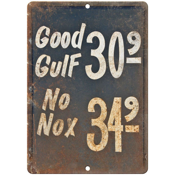 "Porcelain Look Motor Oil Gas Station 10"" x 7"" Retro Look Metal Sign"