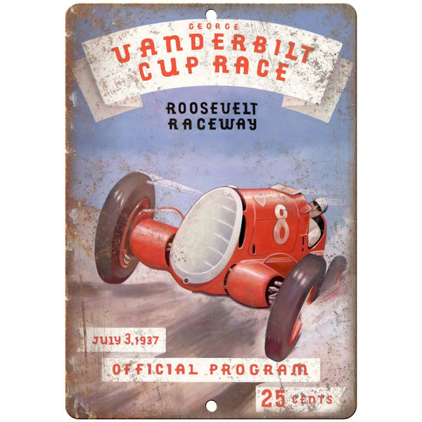 "1937 Vanderbilt Cup Race Roosevelt Raceway 10"" X 7"" Reproduction Metal Sign A639"
