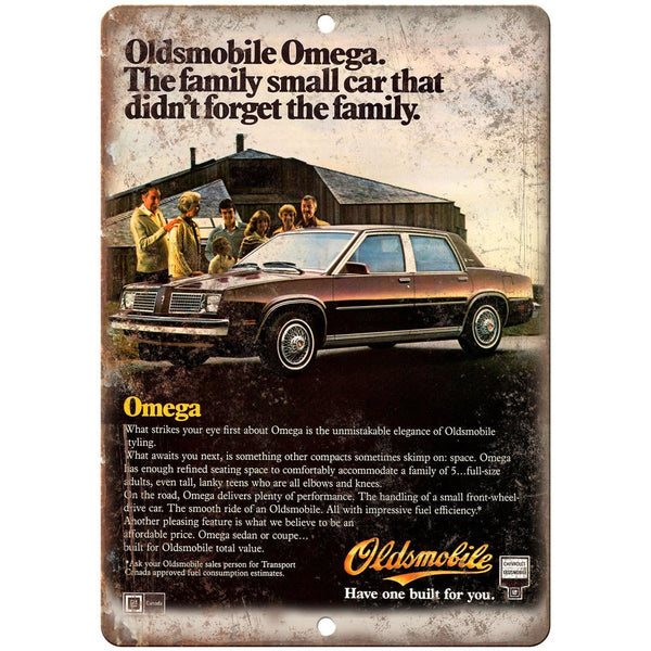 "1983 Oldsmobile Omega Car Ad 10"" x 7"" Reproduction Metal Sign"