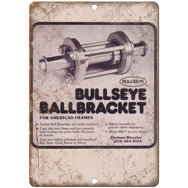 "10"" x 7"" Metal Sign - Bullseye Ballbracket BMX - Vintage Look Reproduction B39"