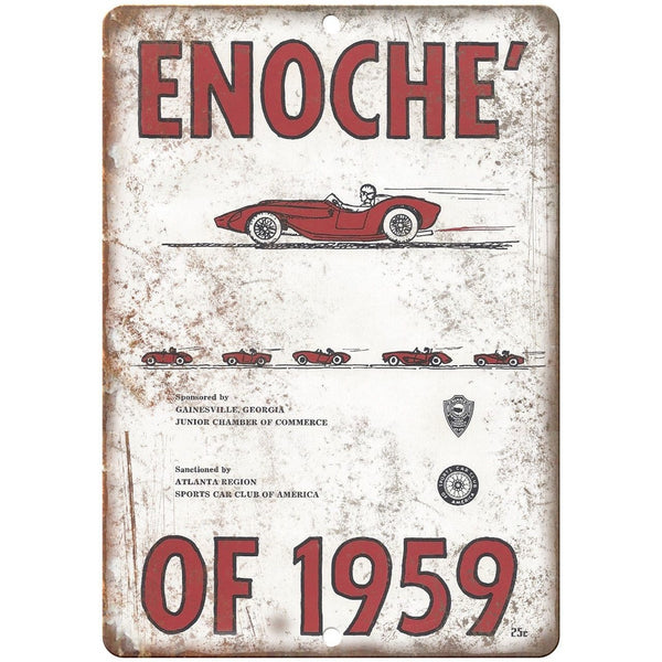 "1959 Enoche Sports Car Club of America 10"" X 7"" Reproduction Metal Sign A605"