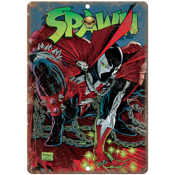 "Spawn Comic Book Marvel Comics Wall Art 10"" x 7"" Retro Look Metal Sign"