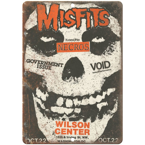 "Misfits, government issue, Punk vintage concert flyer 10"" x 7"" retro metal sign"