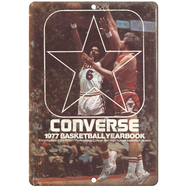 "1977 Converse Basketball Yearbook RARE 10"" x 7"" Reproduction Metal Sign"