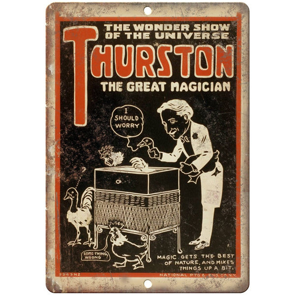"Thurston The Great Magician RARE Poster Art 10""X7"" Reproduction Metal Sign ZH192"