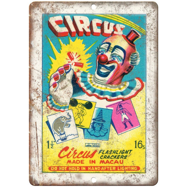 "Circus Firecracker Package Art Gross10"" X 7"" Reproduction Metal Sign ZD108"