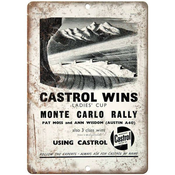 "Castrol Automobile Motor Oil Vintage Ad 10"" X 7"" Reproduction Metal Sign A719"