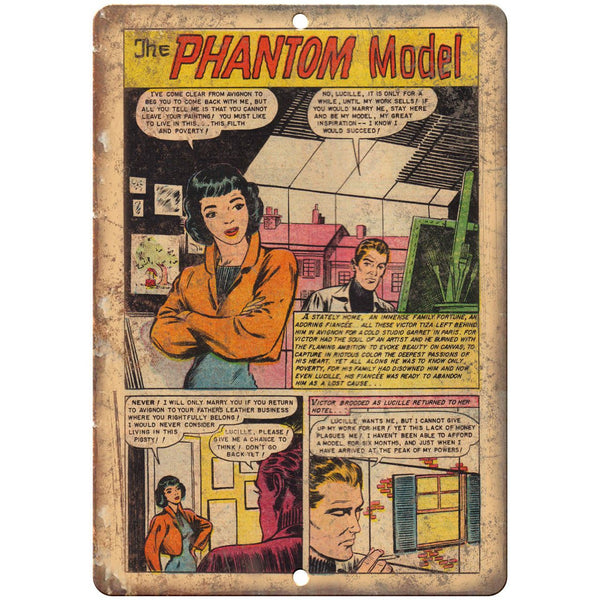 "The Phantom Model Comic Book Strip Art 10"" x 7"" Reproduction Metal Sign J531"