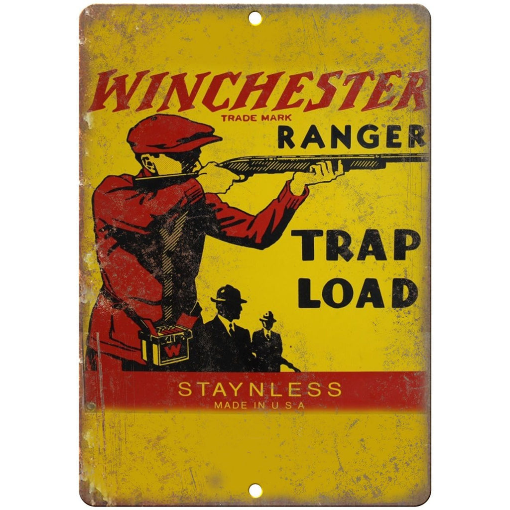 "Porcelain Look Winchester Ranger Trap Load 10"" x 7"" Retro Look Metal Sign"