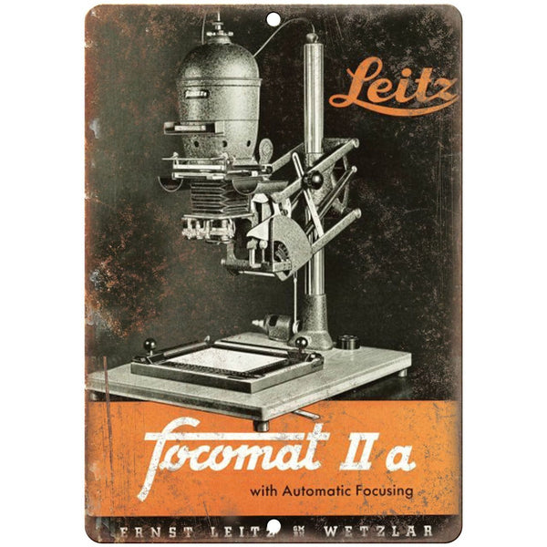 "Leica Format 2 Ernst Leitz Wetzlar 10"" x 7"" Retro Look Metal Sign"