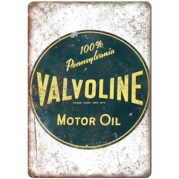 Valvoline Pennsylvania Motor Oil Porcelain Look Reproduction Metal Sign U134
