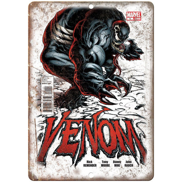 "Venom Comic Book Wall Art Marvel Comics 10"" x 7"" Retro Look Metal Sign"
