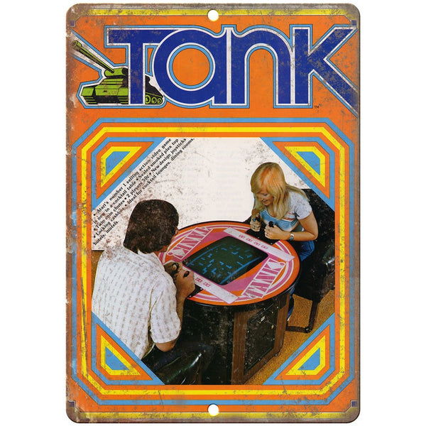 "Tank arcade game 10"" x 7"" reproduction metal sign"