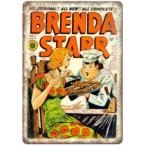 "Brenda Starr Vitage Comic Superior Cover 10"" X 7"" Reproduction Metal Sign J249"