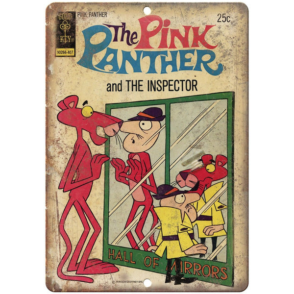 "The Pink Panther And The Inspector Comic 10"" X 7"" Reproduction Metal Sign J291"