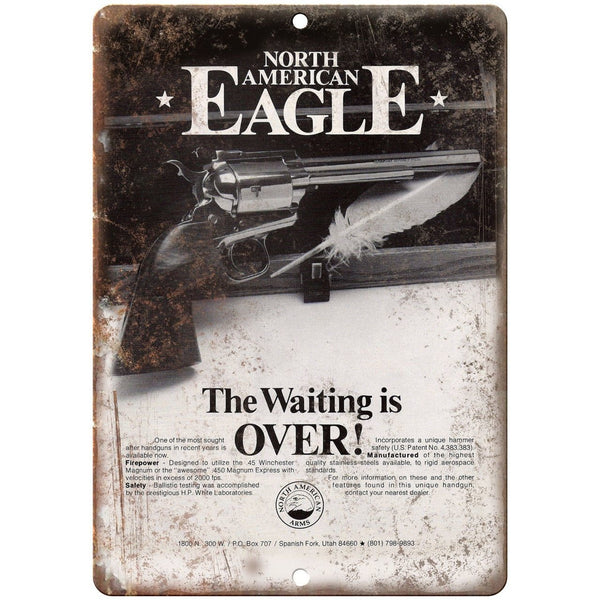 "North American Arms Eagle 450 Magnum Vintage Ad 10"" x 7"" Reproduction Metal Sign"