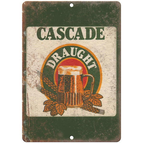 "Cascade Draught Vintage Man Cave Décor Ad 10"" x 7"" Reproduction Metal Sign E258"