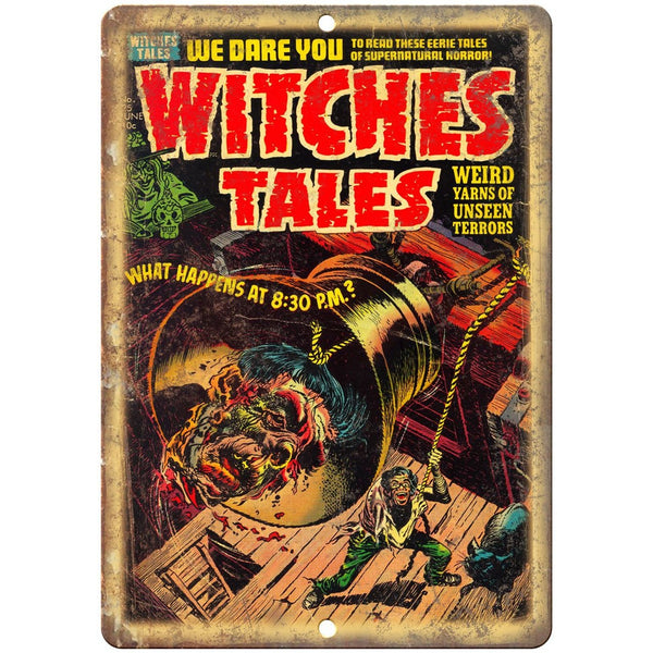 "Witches Tales vintage Comic Art 10"" X 7"" Reproduction Metal Sign J260"