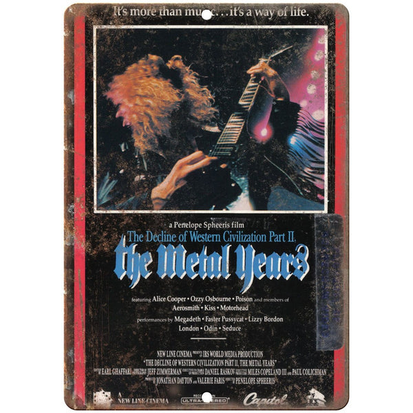 "The Metal Years Heavy Metal RARE VHS Cover 10"" x 7"" Reproduction Metal Sign"