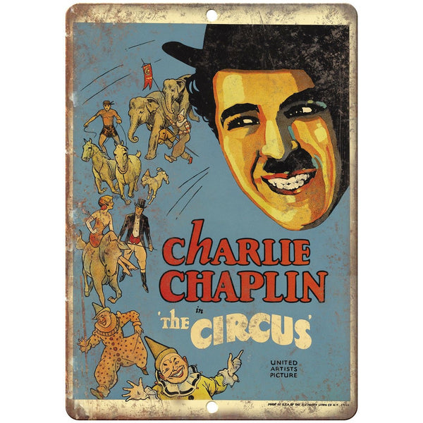 "Charlie Chaplin The Circus United Artists 10"" X 7"" Reproduction Metal Sign ZH09"