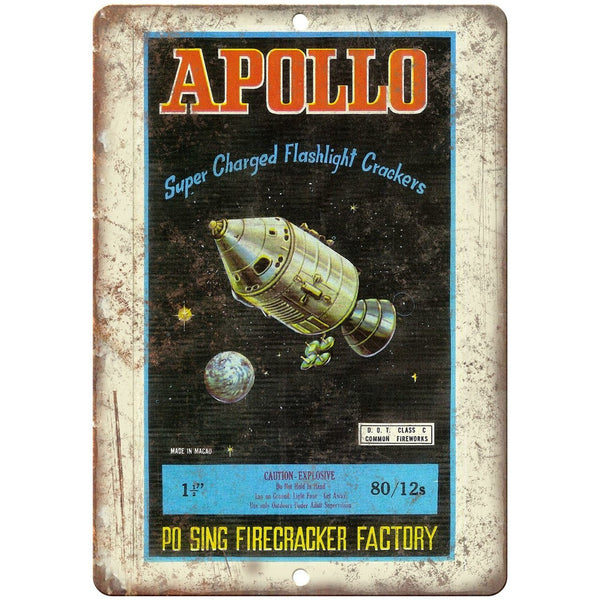 "Apollo Firecracker Po Sing Factory Art 10"" X 7"" Reproduction Metal Sign ZD56"