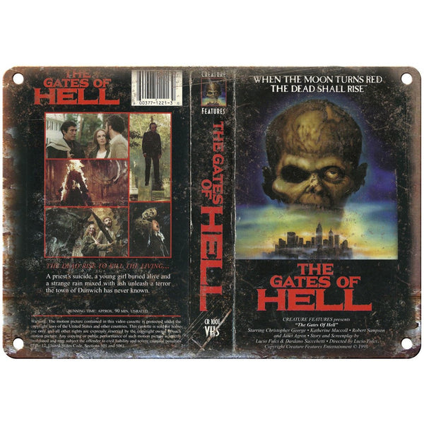 "The Gates of Hell VHS Box Cover Art 10"" X 7"" Reproduction Metal Sign V35"
